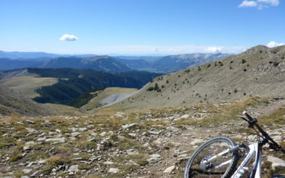 "The transverdon with mountain bike ""Only for the braves"". From Allos pass to Gréoux les bains"