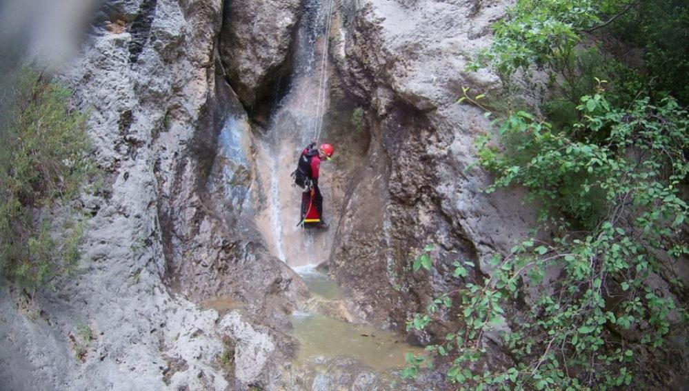 Canyoning dans le ravin de vénascle, Moustiers-Sainte-Marie