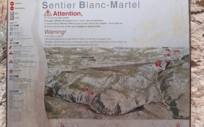 Blanc-Martel trail, the Verdon family hike